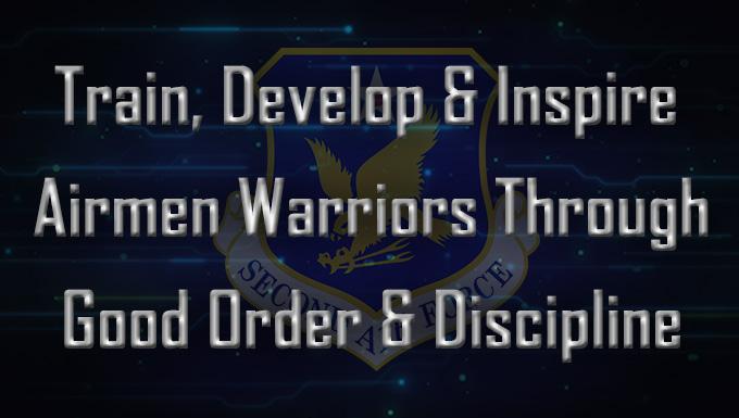 Train, develop and inspire Airmen warriors through good order and discipline