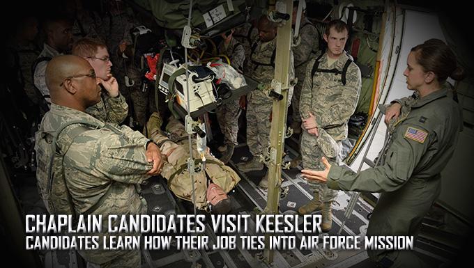 Chaplain candidates visit Keesler